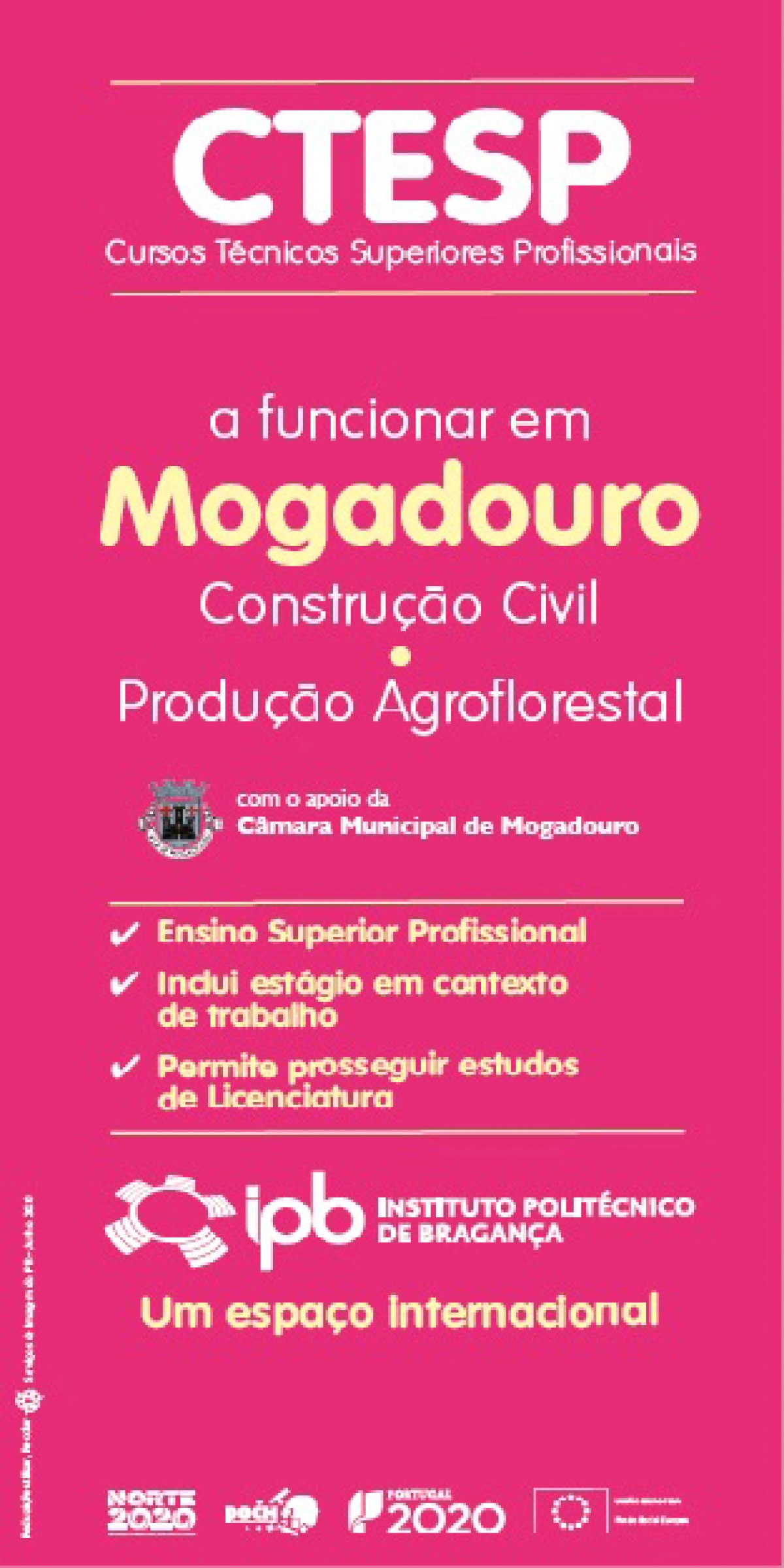 Protocolo CTeSP de Construção Civil - Instituto Politécnico de Bragança